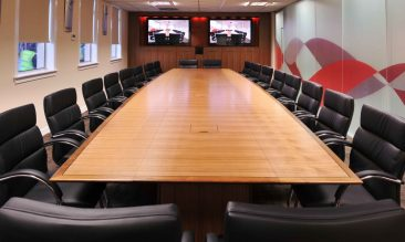 Change sectional boardroom table with Orion chairs