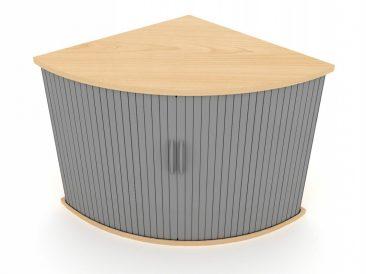Corner tambour cabinet