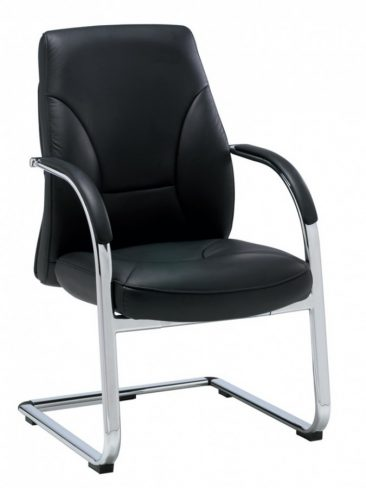 Opula executive meeting chair, leather upholstery