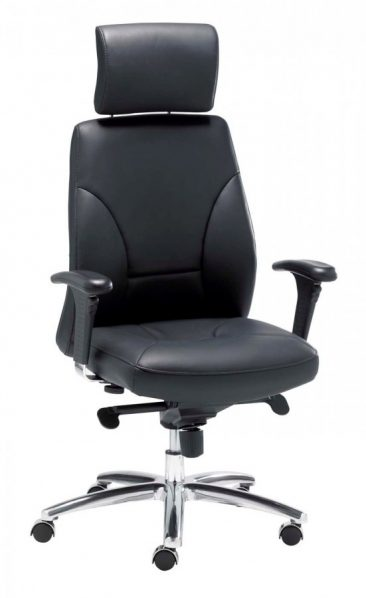 Opula executive office chair, leather upholstery