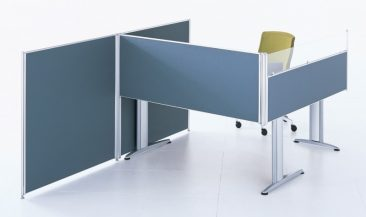 Floor standing and desk mounted fabric screens