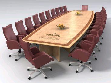 Veneered boardroom table