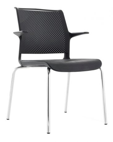Ad Lib four leg perforated seat and back with arms