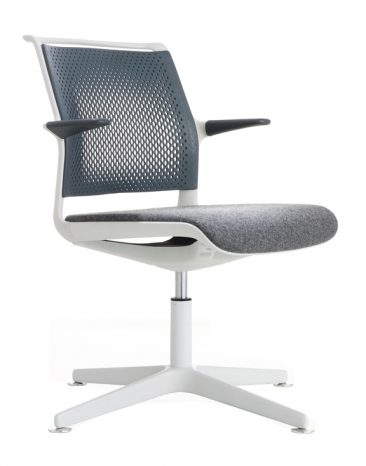 Ad Lib swivel base upholstered seat perforated back with arms
