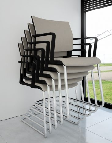 I-Sit cantilever stacked