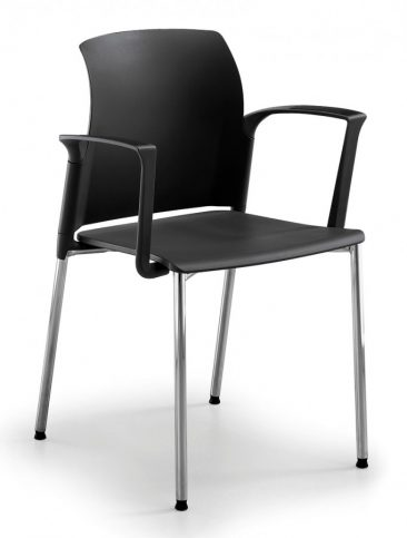 Leola four leg armchair moulded seat and back