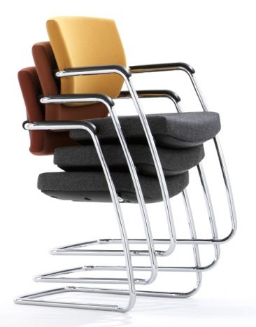 Sprint cantilever chairs stacked