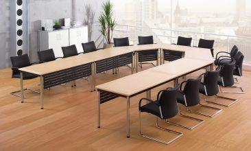 Harley Avis tables with veneered tops