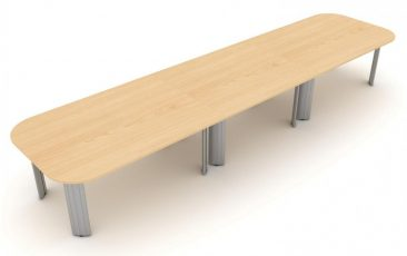 Kassini three piece soft rectangle meeting table
