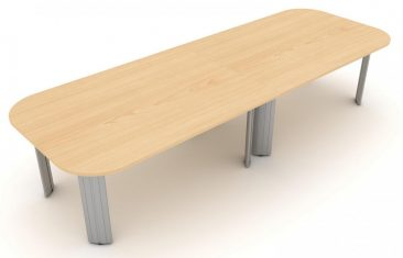 Kassini two piece soft rectangle meeting table