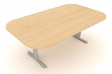 Optima Plus large soft rectangle meeting table