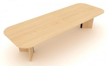 Windsor large soft rectangle meeting table with arrowhead base
