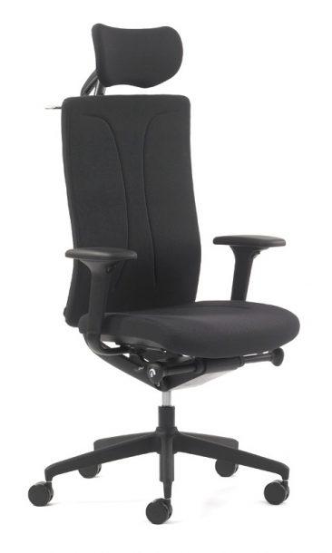 Agitus office chair with headrest