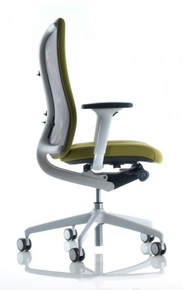 Agitus office chair with light grey components