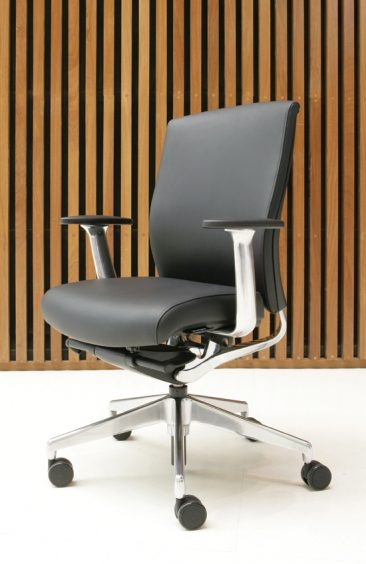 Enigma office chair with leather upholstery