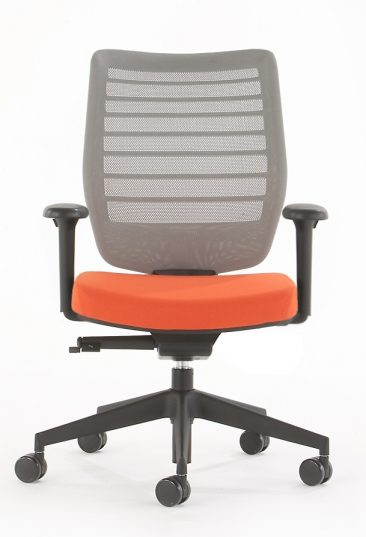 Fuse office chair with grey mesh back
