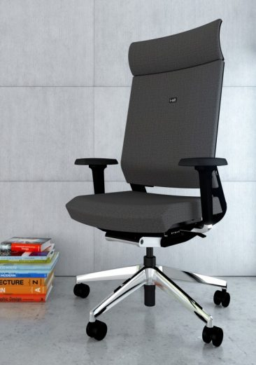 ISit office chair with headrest fully upholstered