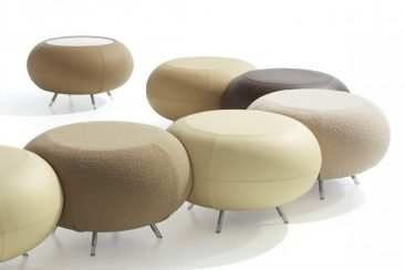 Pebble stools and table