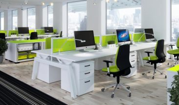 Elevate height adjustable bench workstations with full acrylic screens