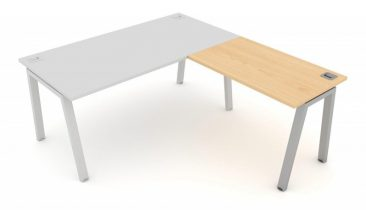 Linnea straight desk with return