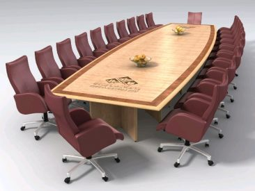 Veneered boardroom table