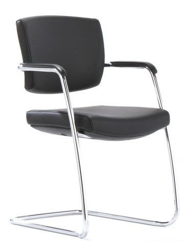 Sprint cantilever chair leather upholstery