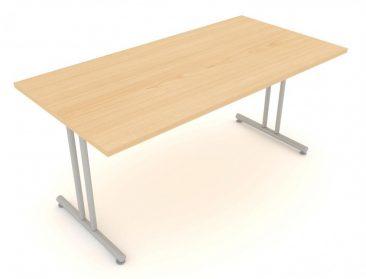 Modular folding rectangular table