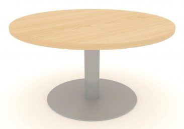 Modular large circular table on central column base
