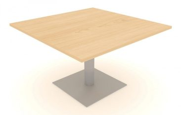Modular large square table on central column base