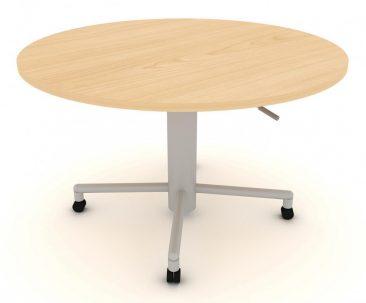 Modular mobile circular sit-stand meeting table