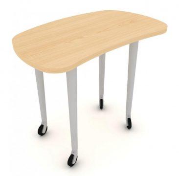 Modular mobile desk-end meeting table