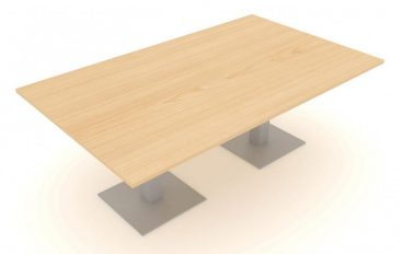 Optima Plus large rectangle meeting table with square feet
