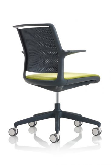 Ad Lib office chair with arms and moulded back