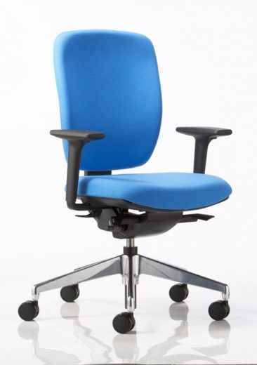 Dash office chair with height and width adjustable arms