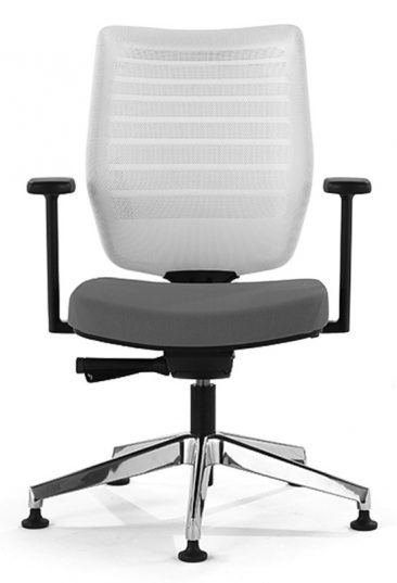 Fuse office chair on glide base with white mesh back