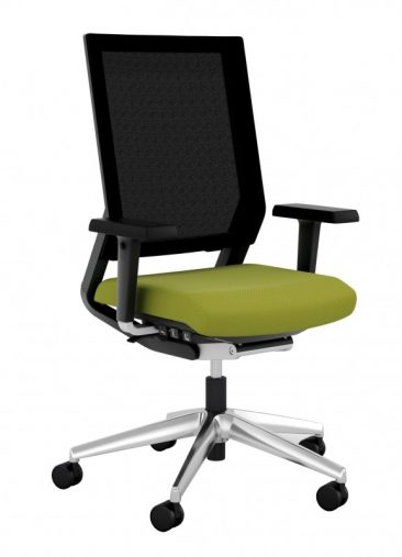 ISit office chair upholstered seat and mesh back