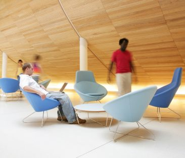 Conic chairs with high back