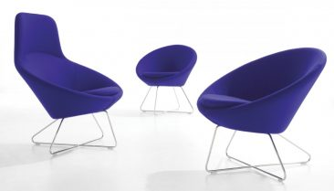 Conic range - high back, lounge and dining chair