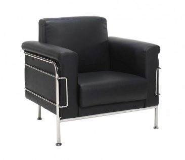 Napoli armchair upholstered in leather